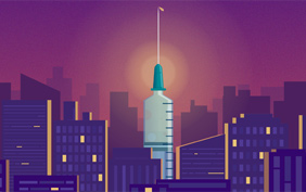 Needle in Cityscape