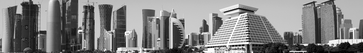 Qatar Downtown Business Skyline