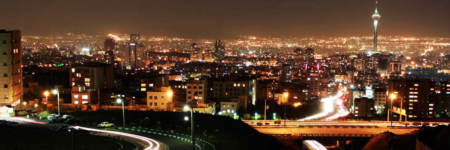 Tehran at night