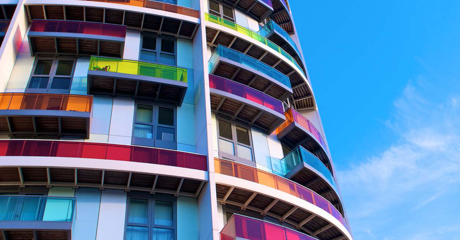 colorful high rise building