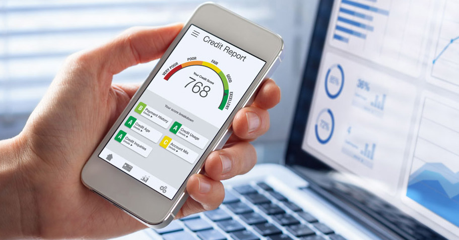 Credit report on a smart phone