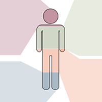 multicolored human figure