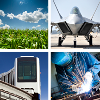 industries agriculture airplane train