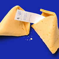 Fortune Cookie with prescription paper