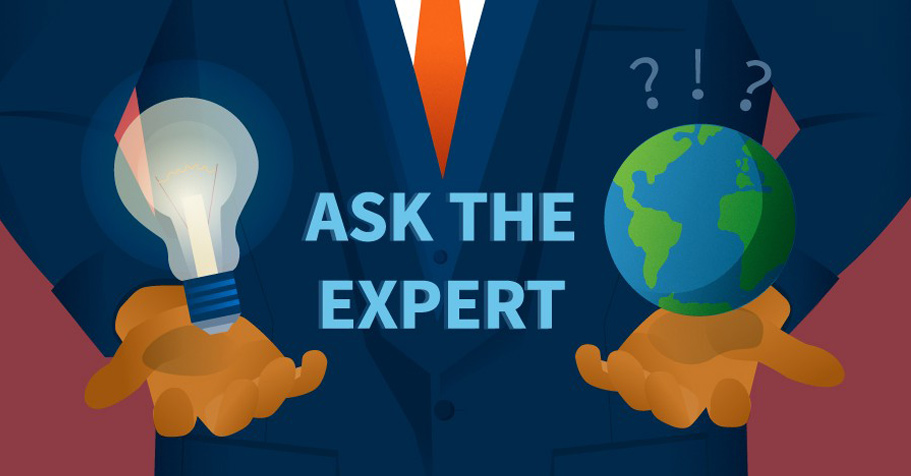 """Ask The Expert"" man with tie"