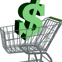 Dollar Shopping Cart