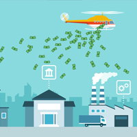 Helicopter Money Illustration